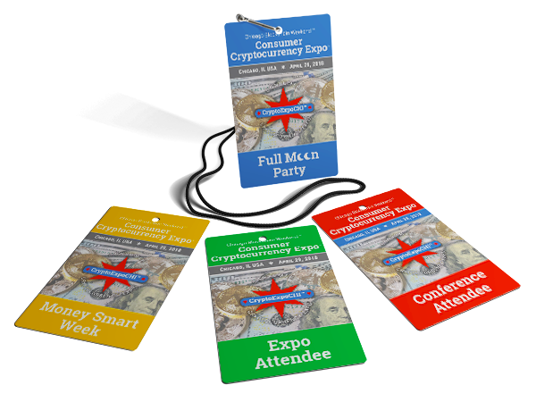 Attendee Consumer Cryptocurrency Expo Lanyard Badge