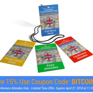 Save 15% Use Coupon Code BITCOIN15 in #CryptoExpoCHI Registration Form