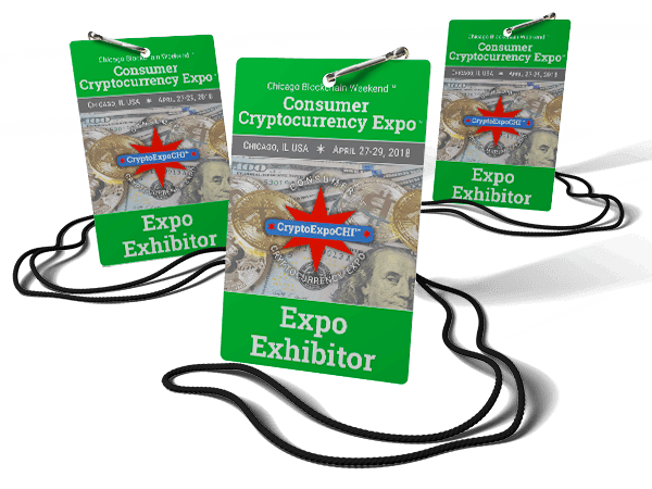 Showcase My Brand at Consumer Cryptocurrency Expo Spring 2018 Badge